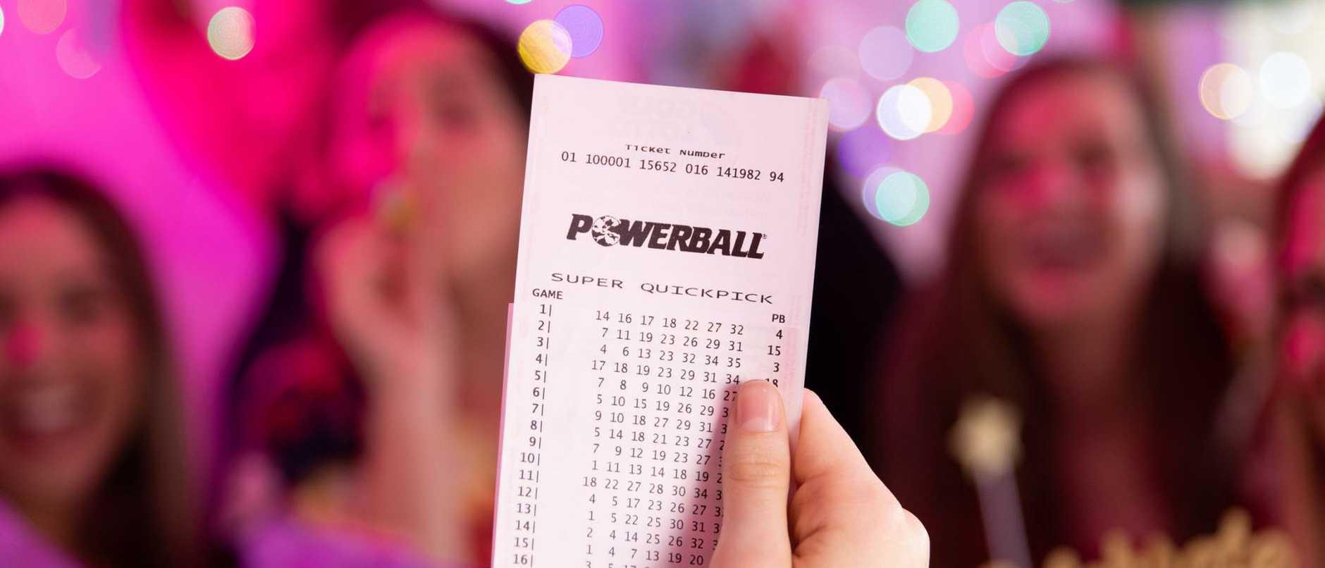 Supplied  Powerball lotto celebration