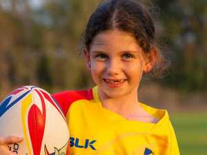 Meet the amazing young girl kicking goals with Rugby