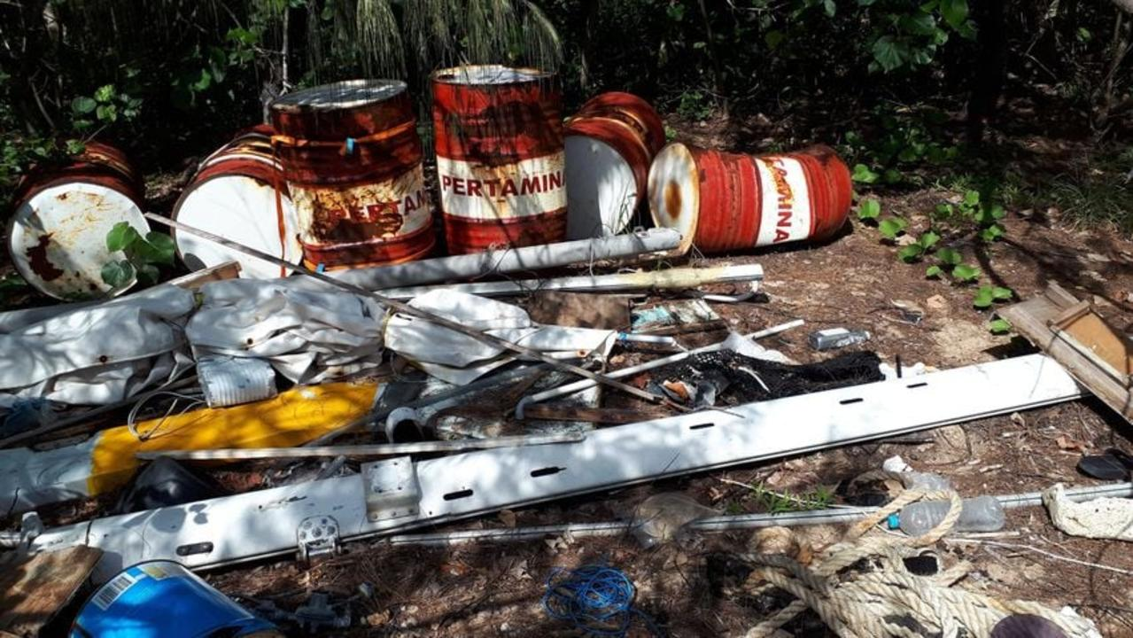 Items dumped at the Blacks Beach spit. Picture: Whitsunday MP Amanda Camm