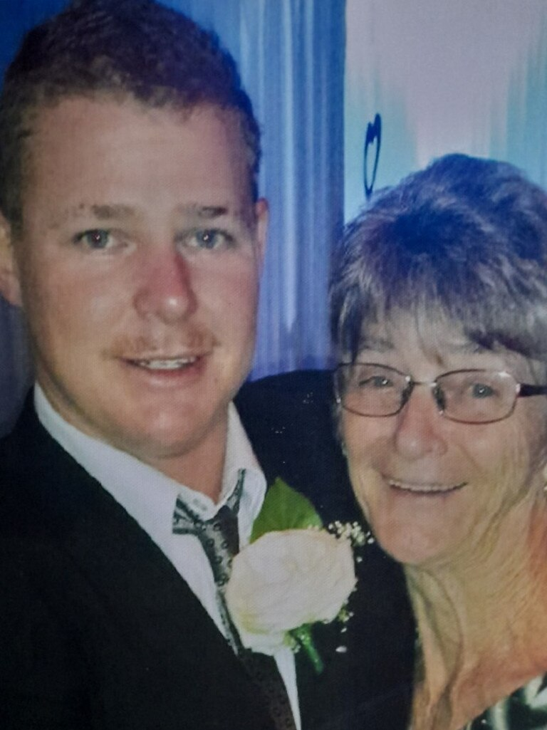 Dylan Donohue pictured with his grandmother Maureen Donohue.