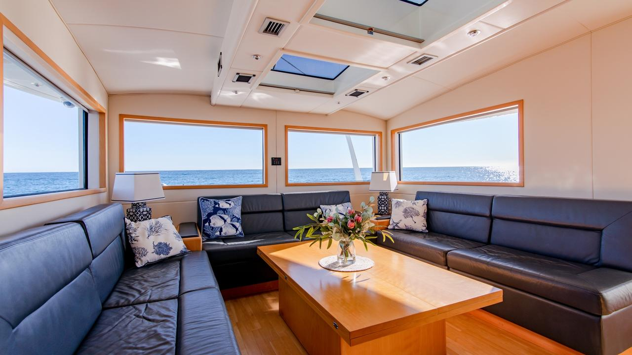 Eric Cook's stunning Mooloolaba-based catamaran Stardust is on the market.