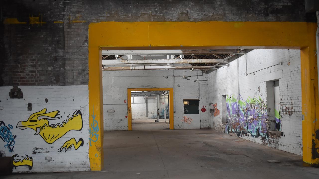 Inside the Woollen Mills in North Ipswich.
