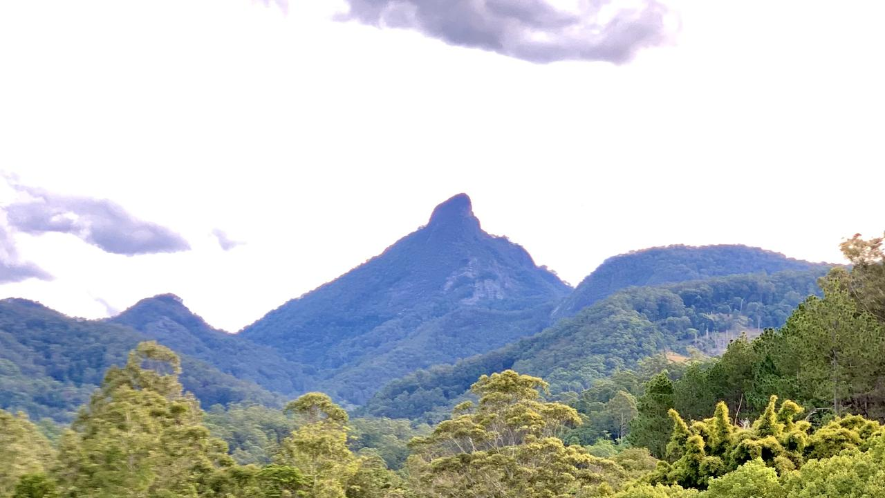 A view of Wollumbin National Park (aka Mount Warning).