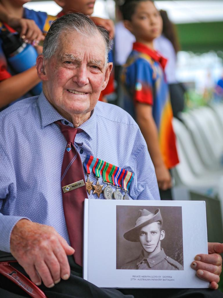 Bombing of Darwin veteran Mervyn Ey. Picture: NCA NewsWire / Glenn Campbell