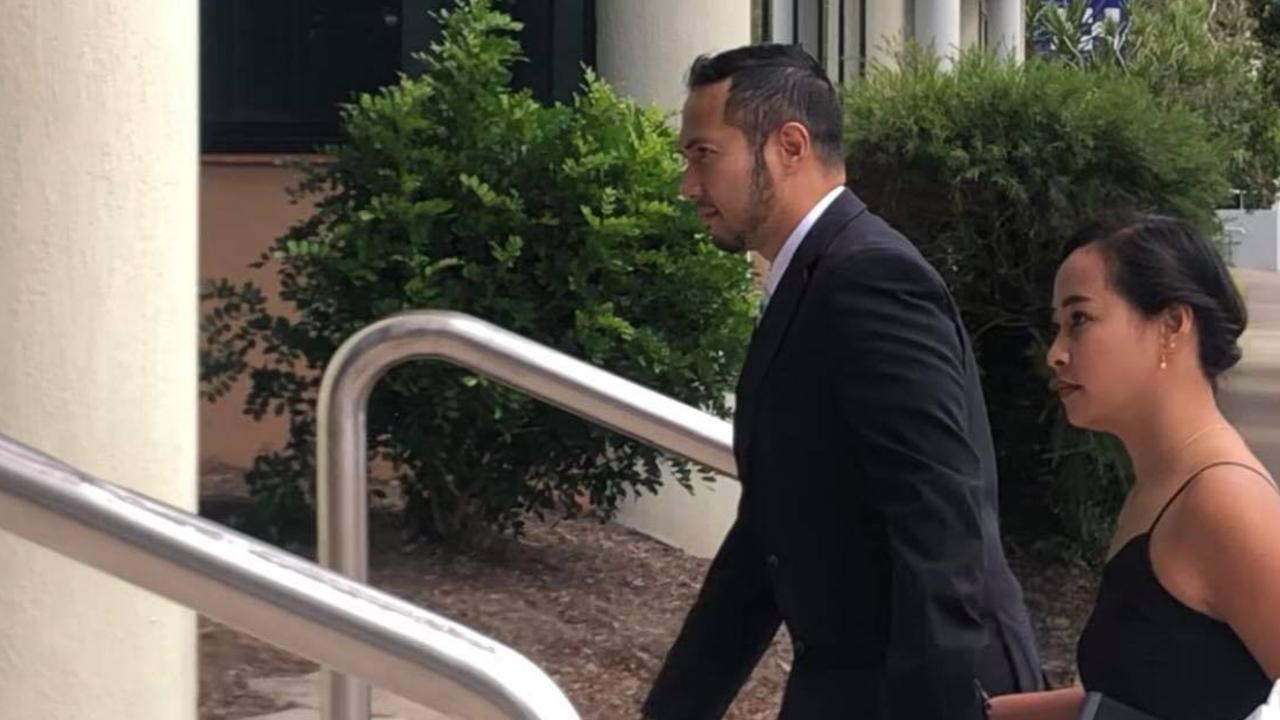 Carlito Raistrick arrives at Maroochydore District Court on Friday.