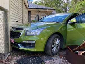 Thief steals car, but crashes into shed at Tinana