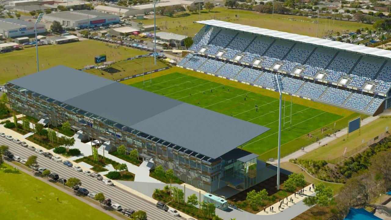 VISION: An artist's impression of an upgraded Sunshine Coast Stadium.