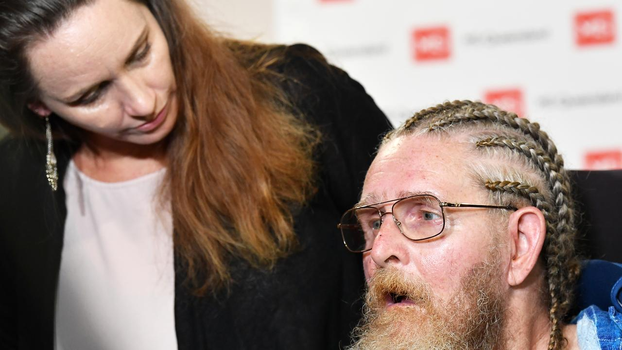Gary Madden has been forced to live hours away from his family due to a lack of specialist disability housing on the Sunshine Coast. Picture: Patrick Woods.
