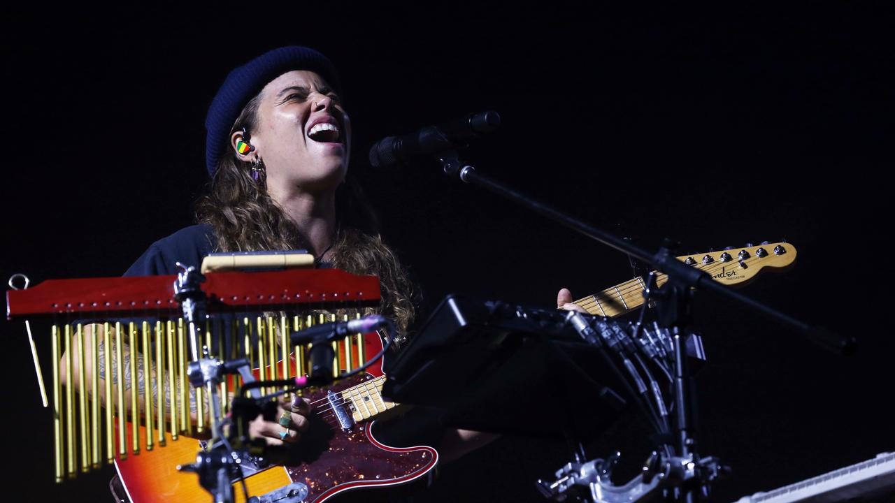 Tash Sultana performing at Bluesfest. Jane Dempster/The Australian.