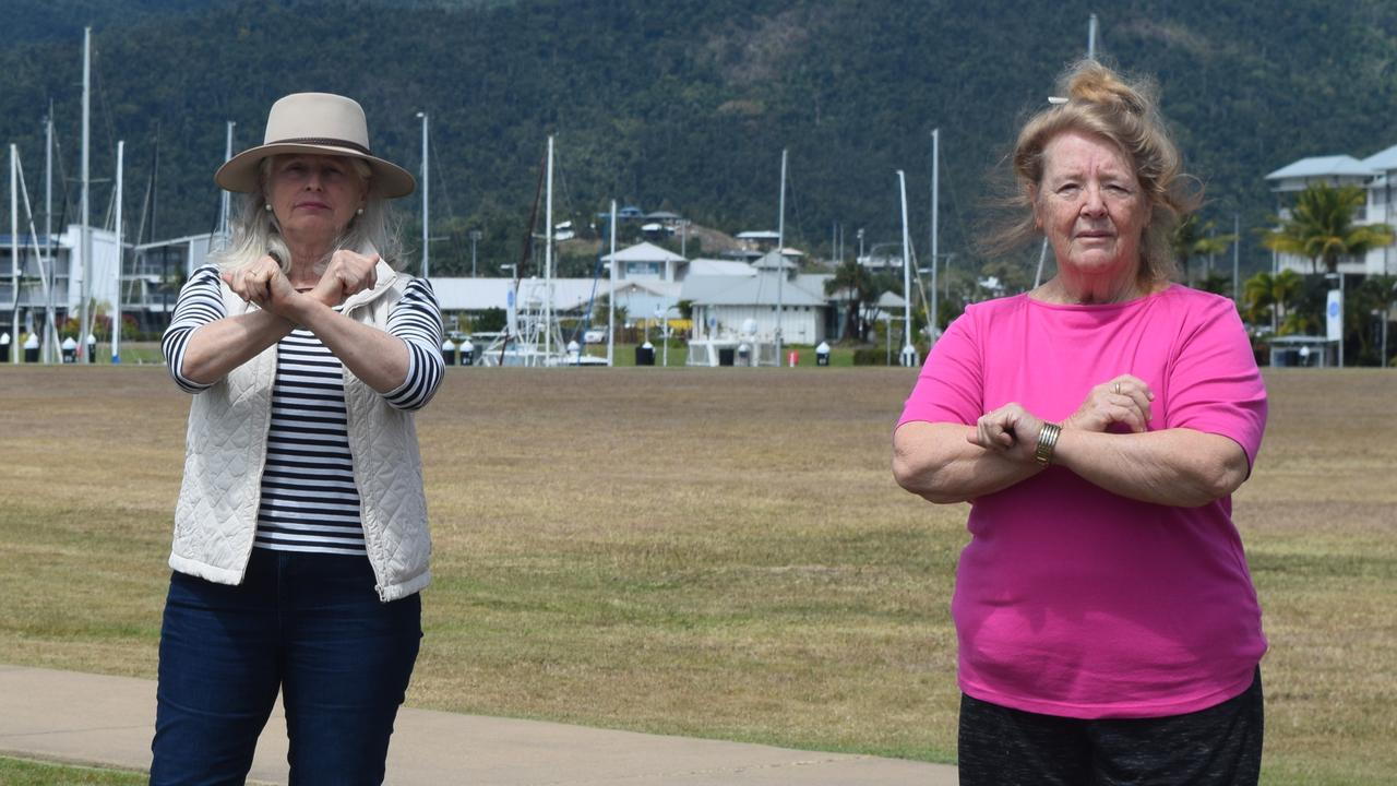 Save our Foreshore president Suzette Pelt and secretary/treasurer Faye Chapman are against high-rise developments on the Airlie Beach Foreshore. Photo: File