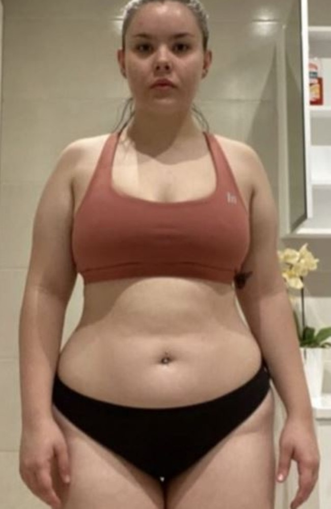 Sarah Bell, 19, had an unhealthy relationship with fast-food and energy drinks.