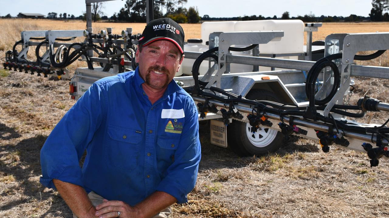 GROUNDBREAKING UNIVERSITY PROJECT: Jeremy Jones from Dalby Rural Supplies demonstrated the features of the new WEED-IT spray technology as part of the information day. Picture: File