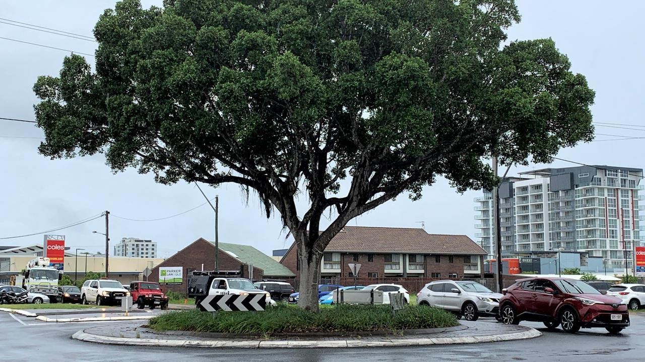 The roundabout at the intersection of Alfred St and Sydney St, Mackay. February 19, 2021. Picture: Heidi Petith