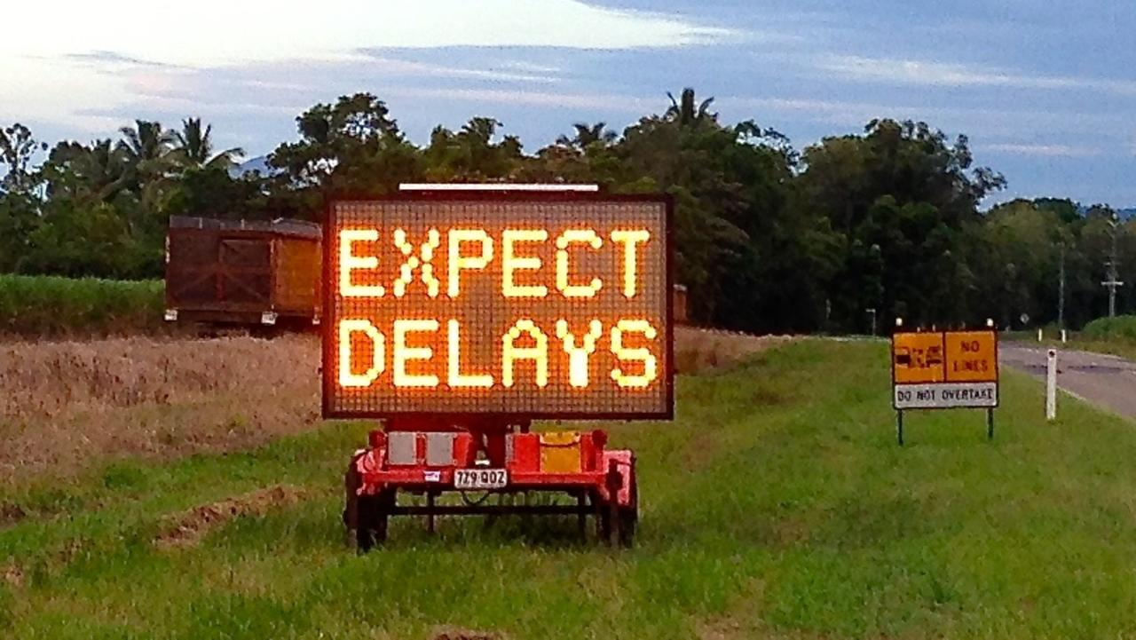 Roadworks are expected to cause delays for motorists with the Department of Transport and Main Roads urging motorists to plan their journey ahead of time.