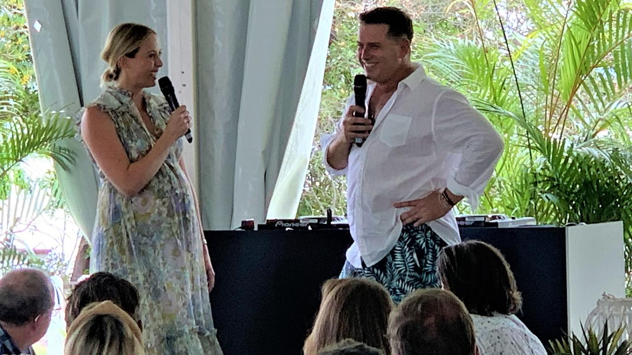 Star power in Noosa as Noosa Eat & Drink Long Lunch MC Karl Stefanovic and hos Today show co-host Sylvia Jeffreys, who is Youngcare national ambassador have some fun.
