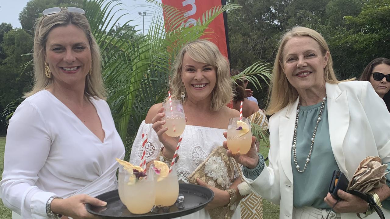 Mayor Clare Stewart, Tourism Noosa CEO Melanie Anderson and Member for Noosa Sandy Bolton are blown away by the response to the Youngcare fundraiser.