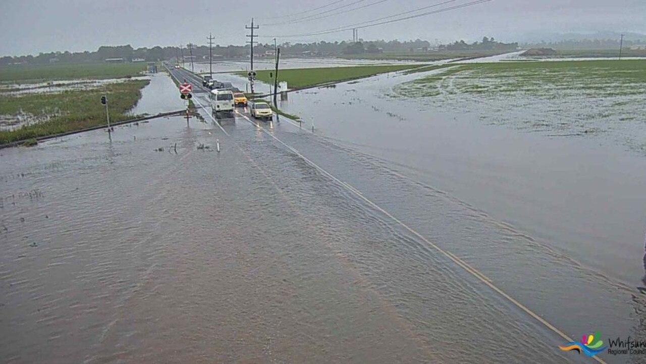 Flooding at Hamilton Plains on January 9 this year. Photo: Whitsunday Regional Council