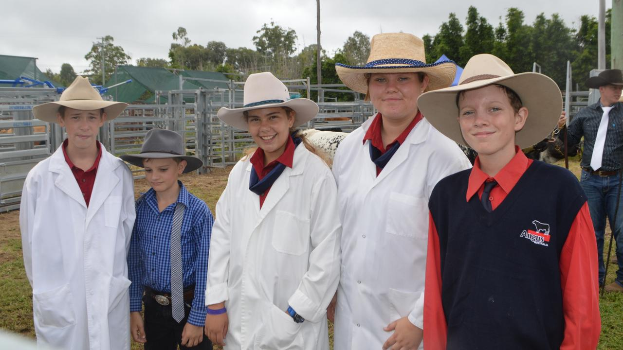 FUTURE OF AG: Killarney Show paraders Liam Poole, Jack McCarthy, Sophie Flick, Ivy Westerley and James Buchan.