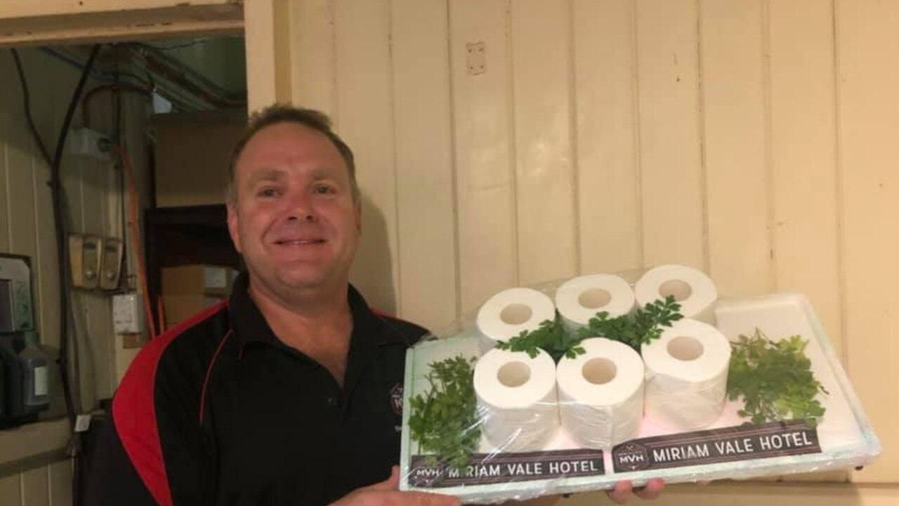 BIG PRIZE: Miriam Vale Hotel publican Mitch Brennan raffled off toilet paper last year.