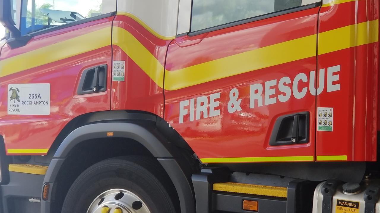 Rockhampton fire truck. QFES, firefighting, fire truck generic.