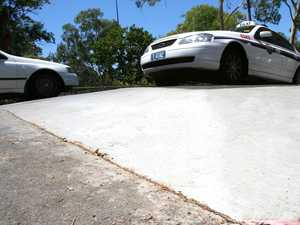 Want-be car jacker stalled stolen car on speed bump