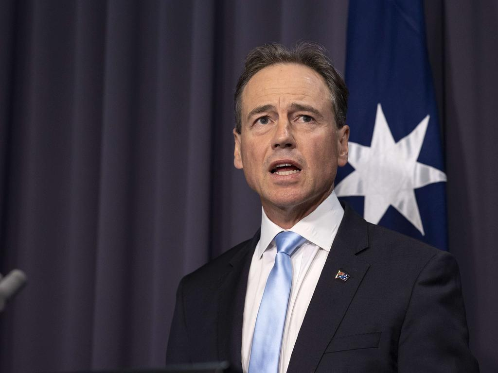 Health Minister Greg Hunt says the vaccines are safe for all. Picture: NCA NewsWire/Gary Ramage