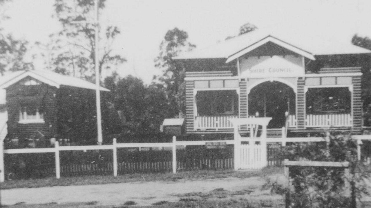 The old council chambers in Landsborough in 1924.
