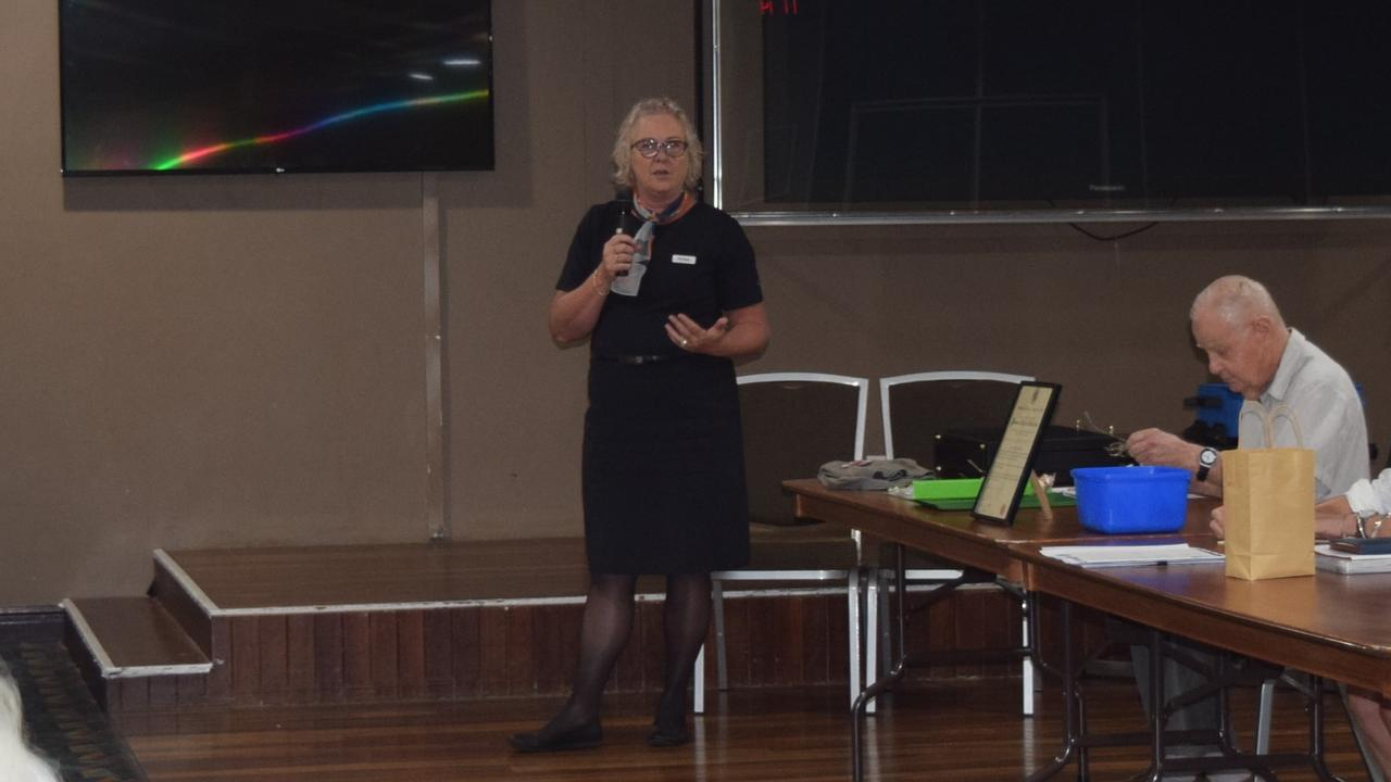 Michelle Hoskings giving her address to Grafton Probus.