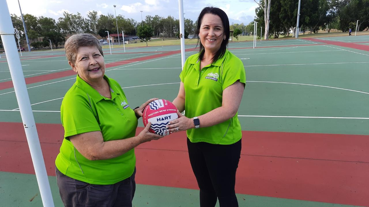 Long-serving Ipswich Netball Association president Gail Lyne is delighted to have talented successor Nicole Virtue eager to build on past successes. Picture: David Lems
