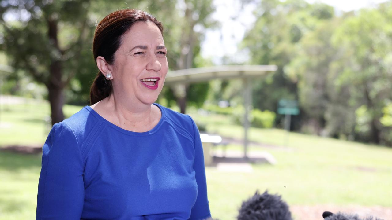"Premier Annastacia Palaszczuk said it was an ""exciting day"" after vaccines touched down in Queensland Picture: Peter Wallis"