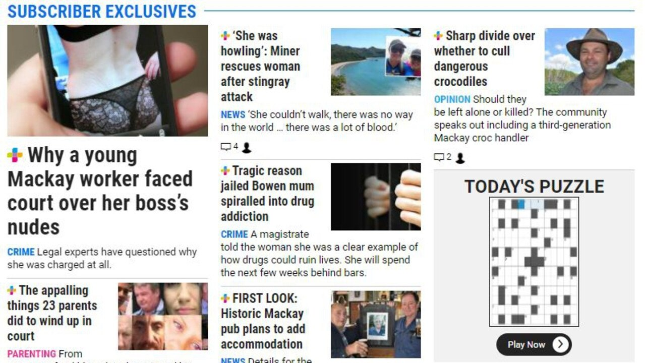 Among the various sections on the Daily Mercury website is the Subscriber Exclusives, a page dedicated to the best of the stories written by our team. They're updated regularly and show the value of our journalism as we delve into issues that matter to you, but also bring you stories of community champions, business movements, triumphs, tribulations and the odd off-beat yarn.