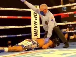 Sickening KO puts champ in ambulance