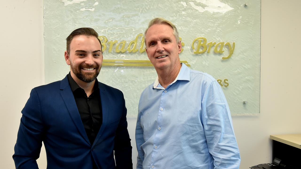 Nambour Chamber of Commerce president Mark Bray, right, from Bradley and Bray Solicitors, Nambour, with business partner Jacob Corbett.