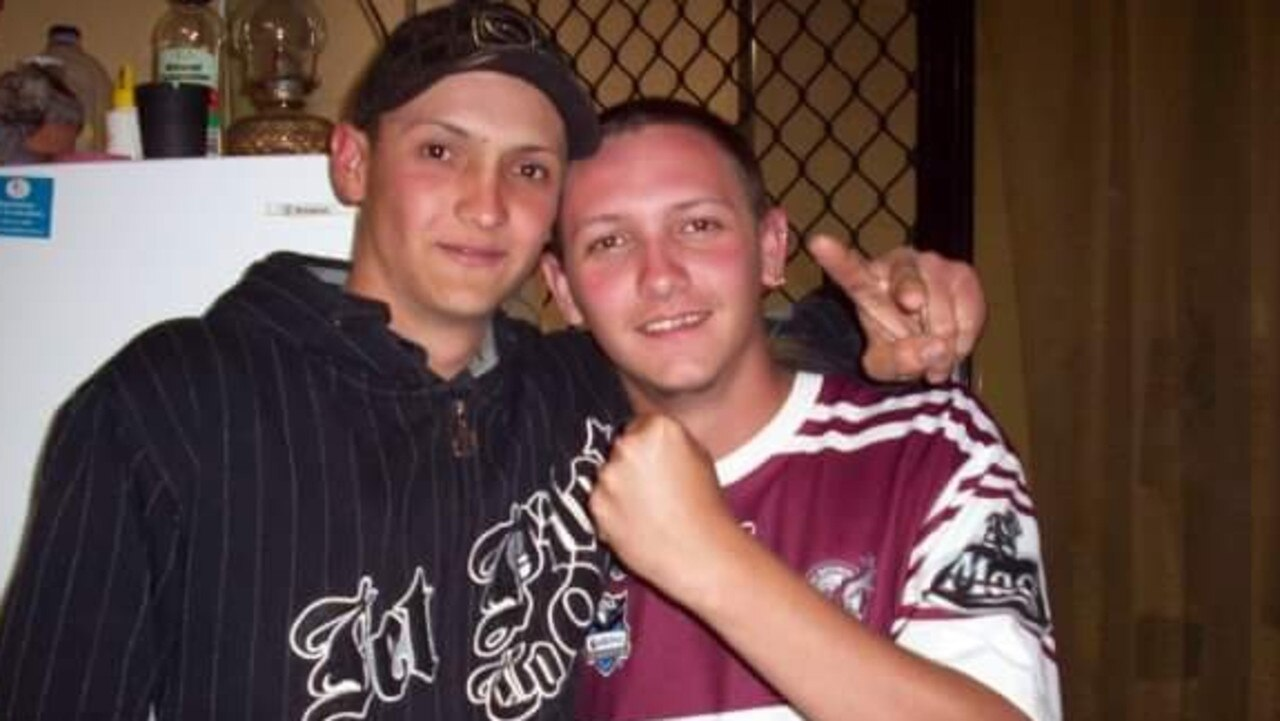 Murder victim Michael, with his brother Justin McCabe, during happier times.