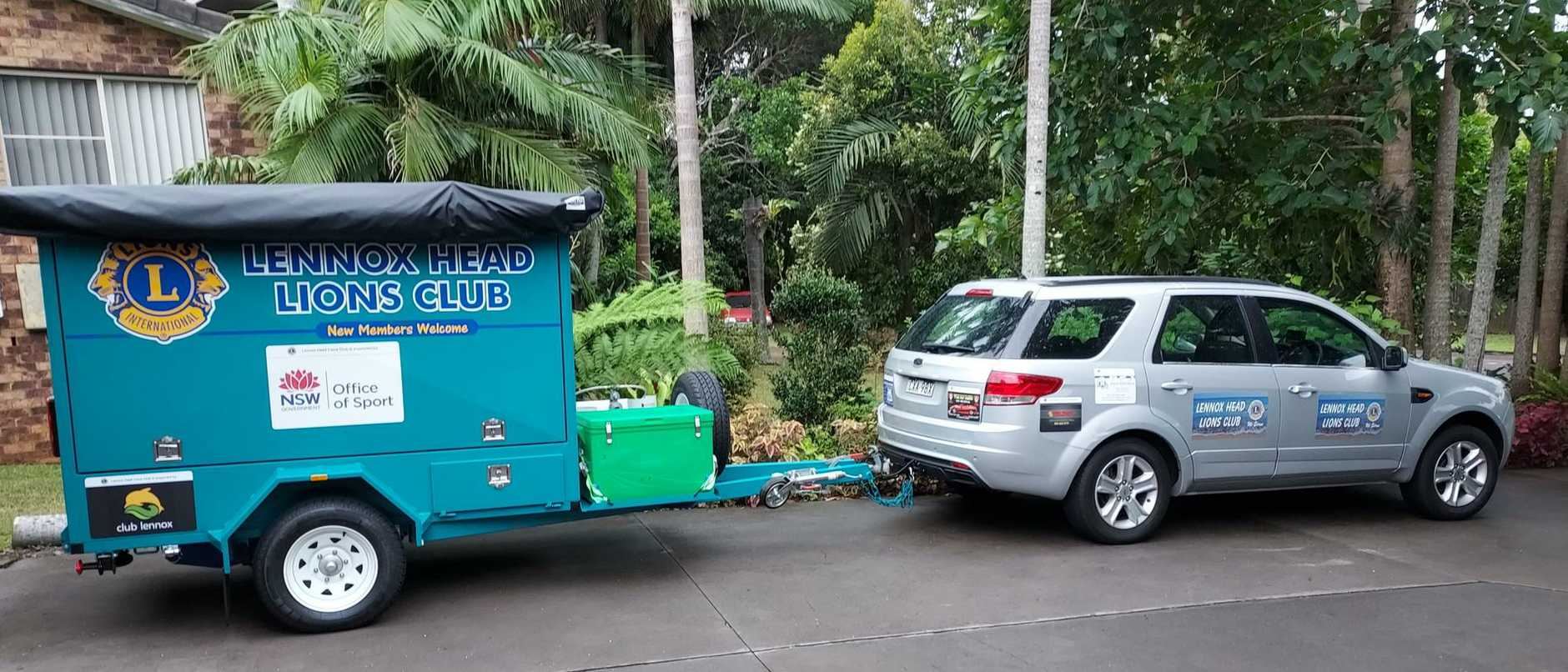 The Lennox Head Lions Club's sausage sizzle trailer needs a place to park inside a shed.