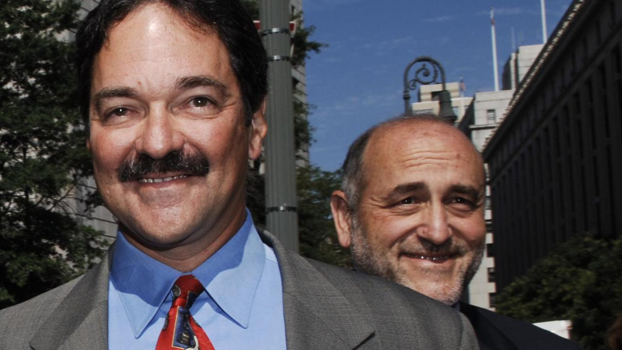 Mark Pomerantz (right), pictured with former investment banker Frank Quattrone in 2006. Picture: Louis Lanzano/AP