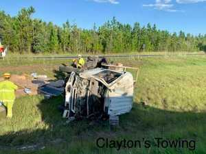 Truck rollover to cause highway chaos