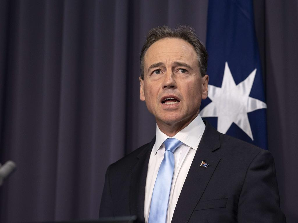 Health Minister Greg Hunt says Facebook should be putting people over profits. Picture: NCA NewsWire / Gary Ramage