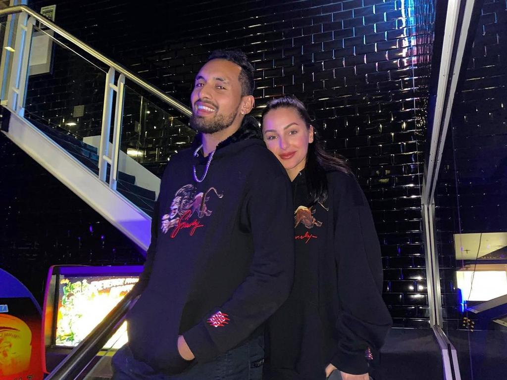 Nick Kyrgios and Chiara Passari.