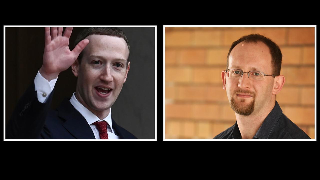 Facebook founder Mark Zuckerberg, Gympie Times journalist Scott Kovacevic