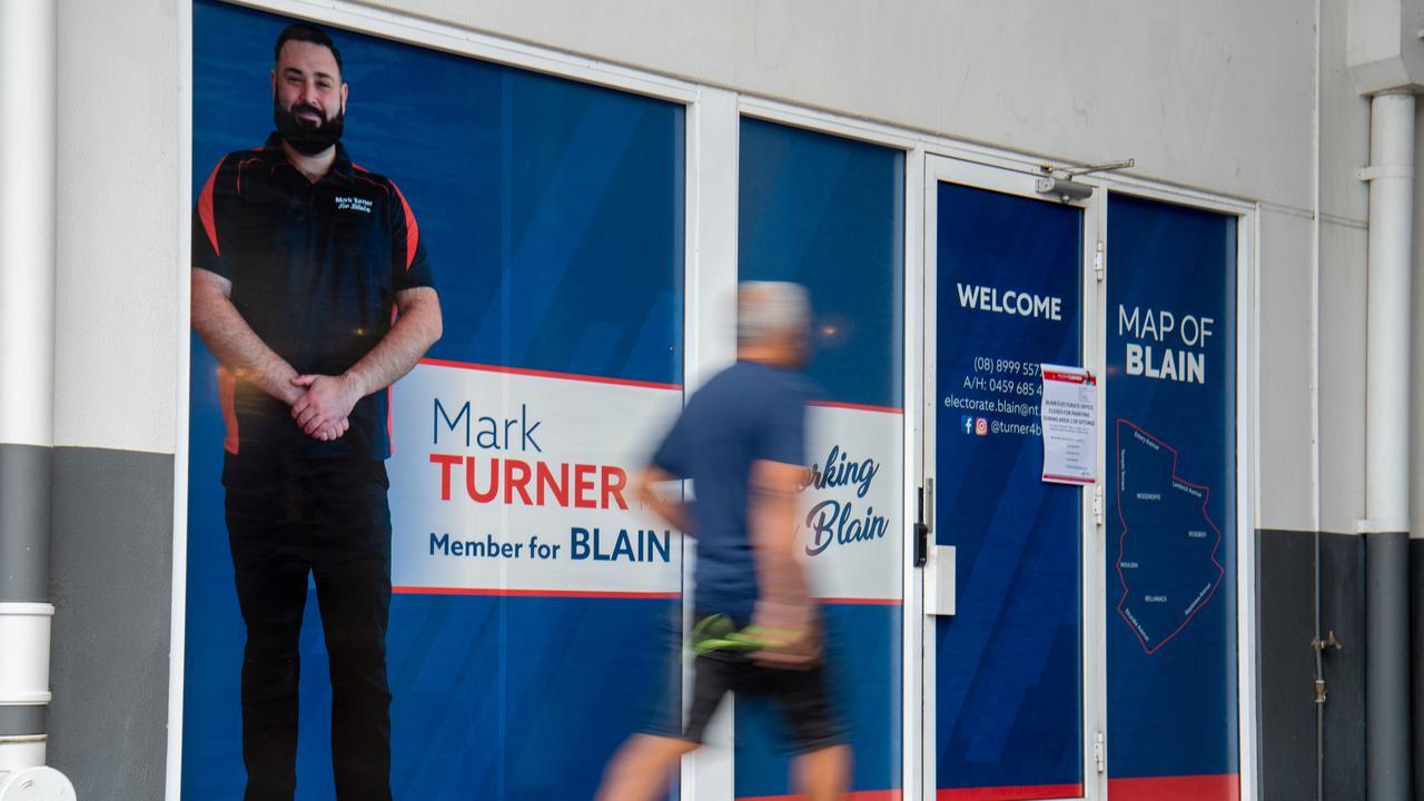The office of the Labor Member for Blain Mark Turner last week.