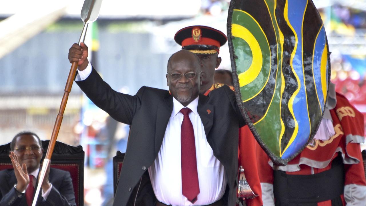 Tanzania's President John Magufuli has been accused of ignoring coronavirus sweeping through the country. Picture: AP Photo/Khalfan Said.