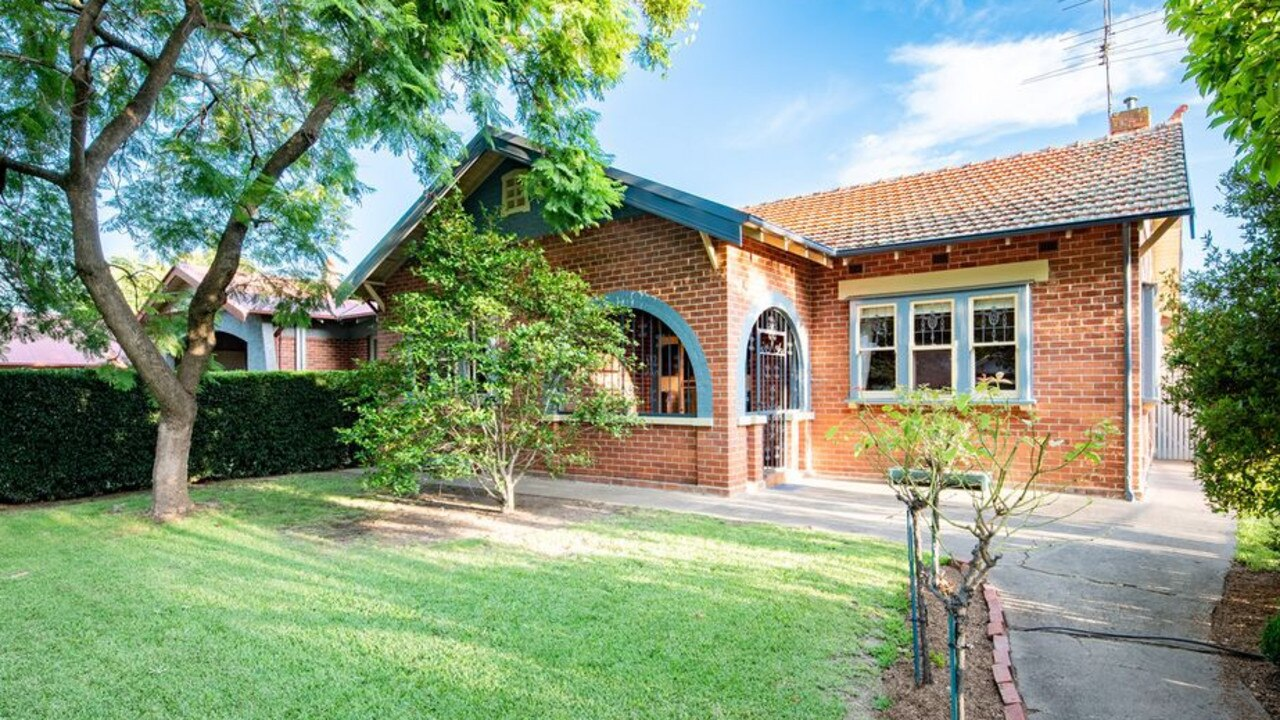 The Riverina in NSW, which scored a 62 per cent happiness rating, has been a popular location for city slickers escaping Sydney and Melbourne. This home in Albury was just listed for $695,000. Picture: Supplied