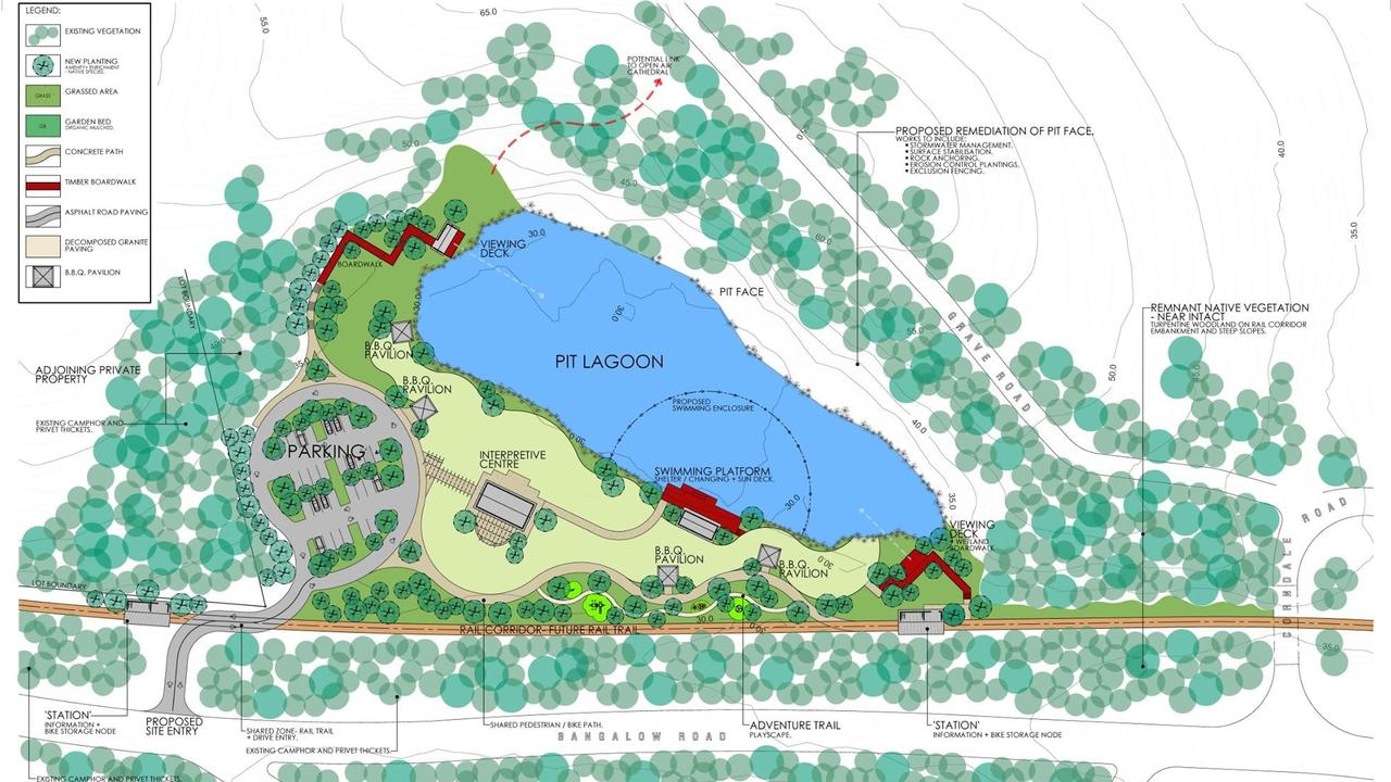 Feedback is sought on plans to turn the Bexhill Quarry site into parklands.