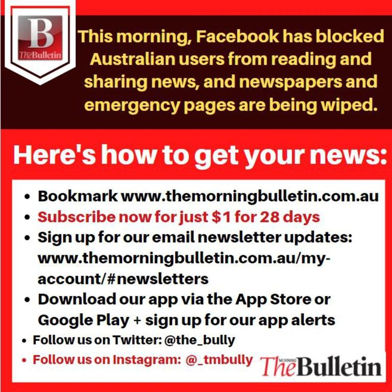 How to get news alerts for The Morning Bulletin.