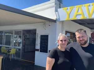 Destructive crims strike popular Mackay CBD cafe third time