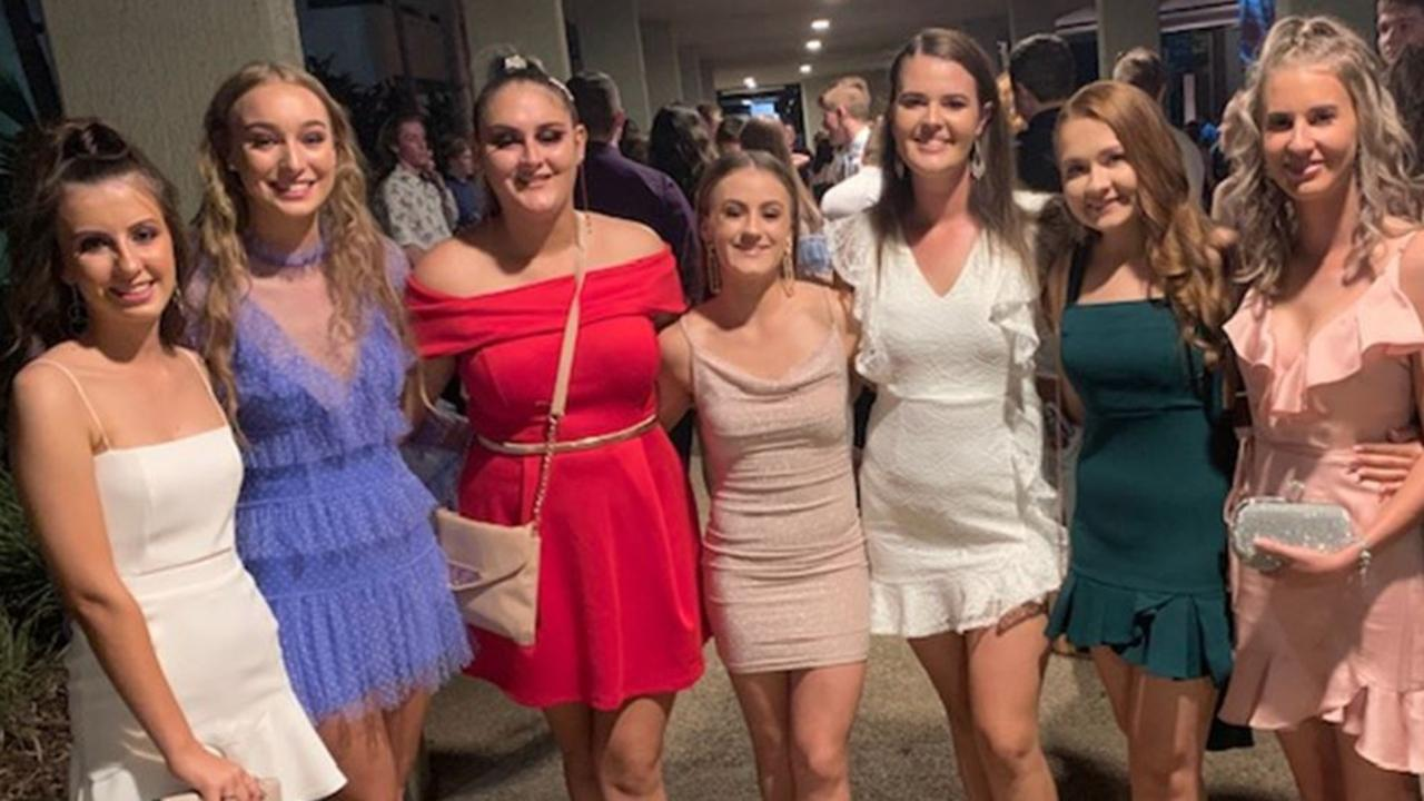 Year 12 students (left to right): Ally Luhrman (St Patrick's College), Stevie Keating-Van-Es (Whitsunday Anglican), Shari Craig (Sarina State High), Laura Connolly (St Patrick's College), Sophie Adams (Sarina State High), Alyssa Hayles (St Patrick's College) and Jessica Keating (Sarina State High) at Mocktail 2020 at the Mackay Entertainment and Convention Centre. Pictured: Contributed.