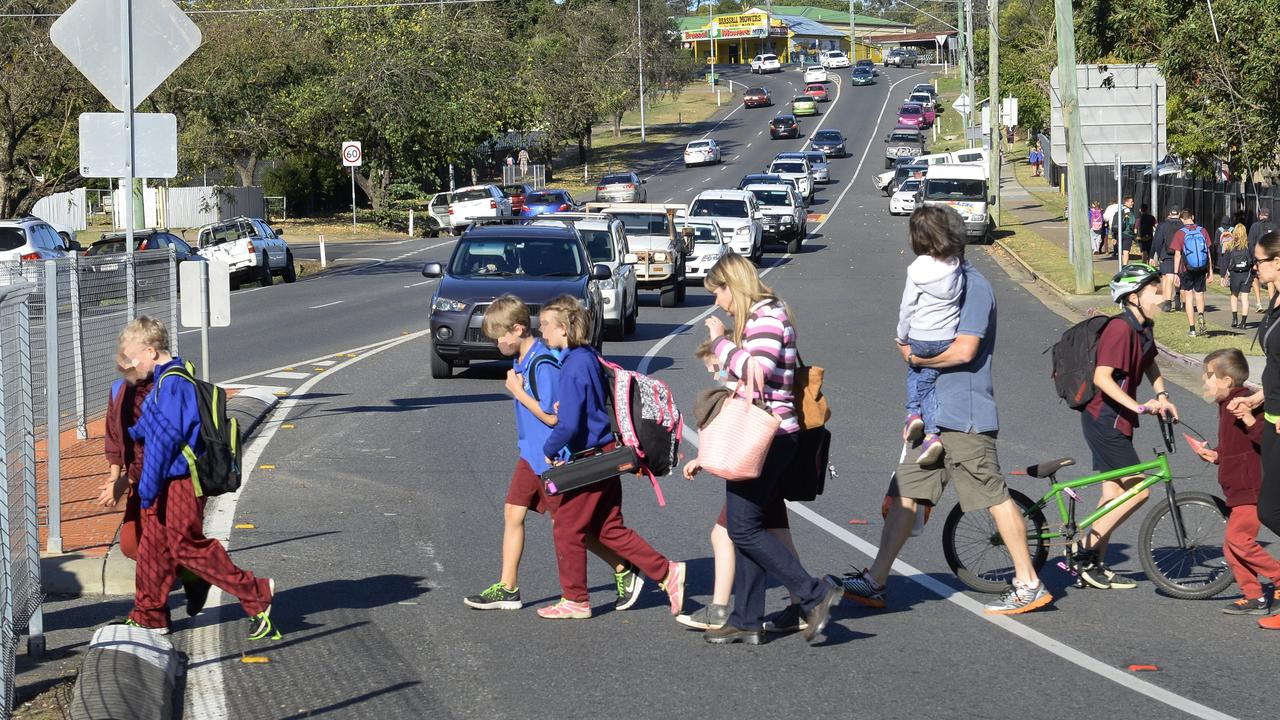 A concerned grandmother is calling on parents and caregivers to start using these designated crossings near Brassall State School. Photo: Rob Williams / The Queensland Times