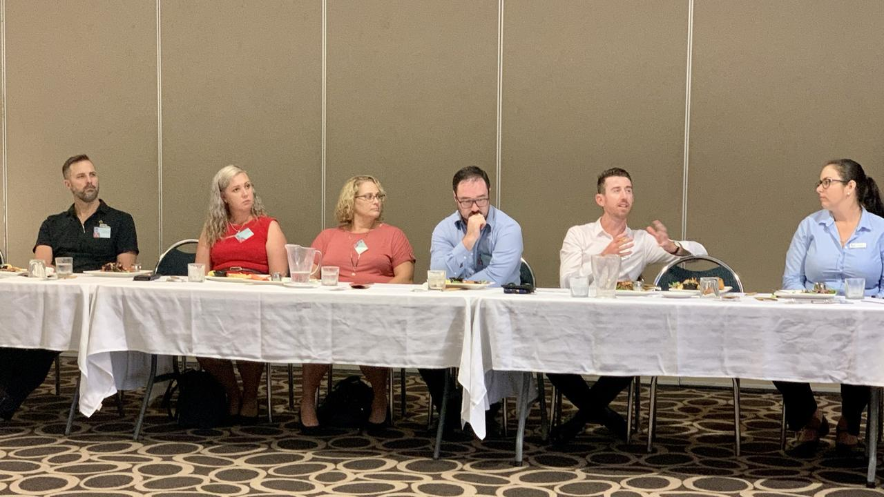 Mackay Region Chamber of Commerce's Building Business Confidence lunch, with Chamber of Commerce and Industry Queensland economist Jack Baxter. Picture: Rae Wilson
