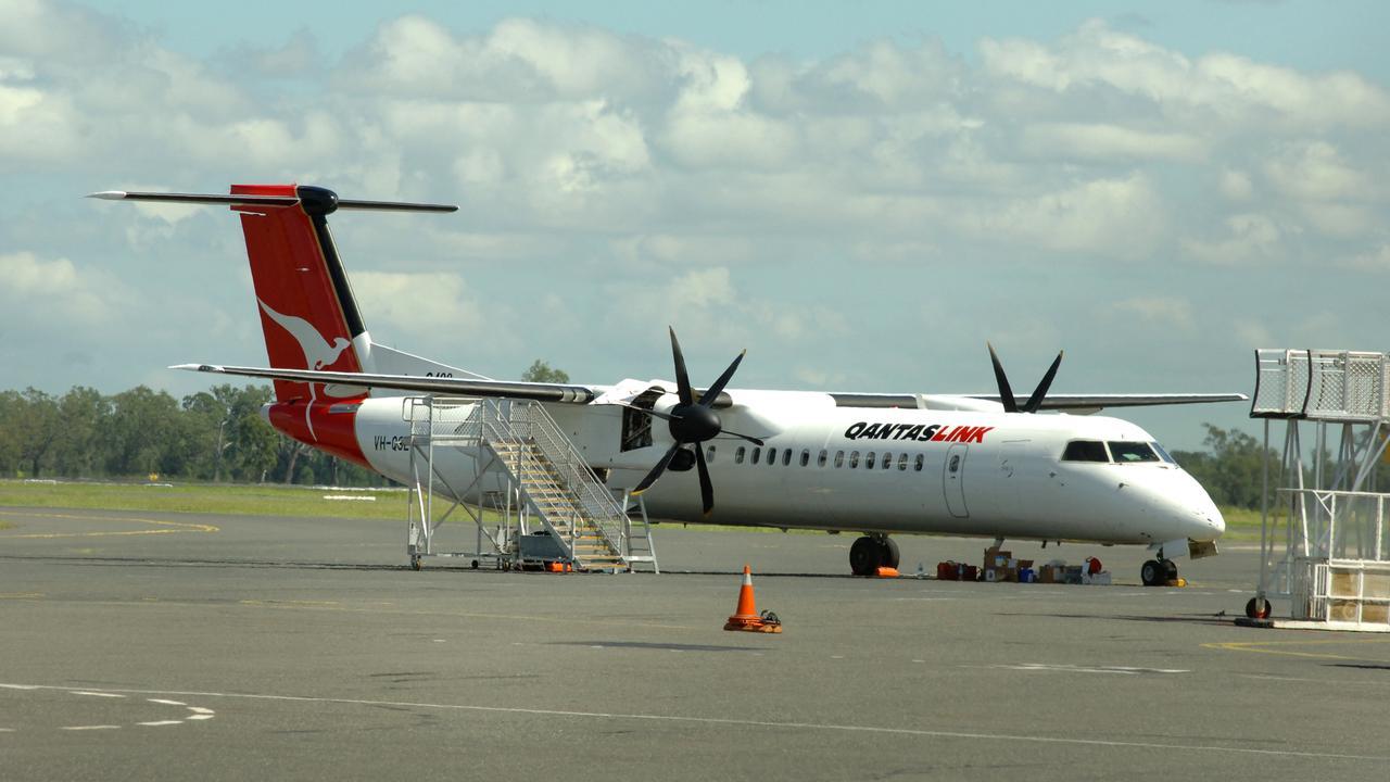 A QantasLink Dash 8 plane. GENERIC FILE PHOTO.